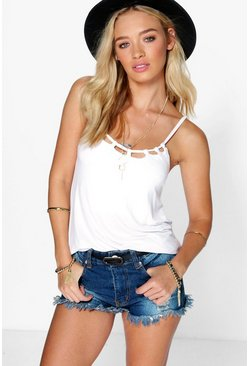 Rose Cage Neck Cami