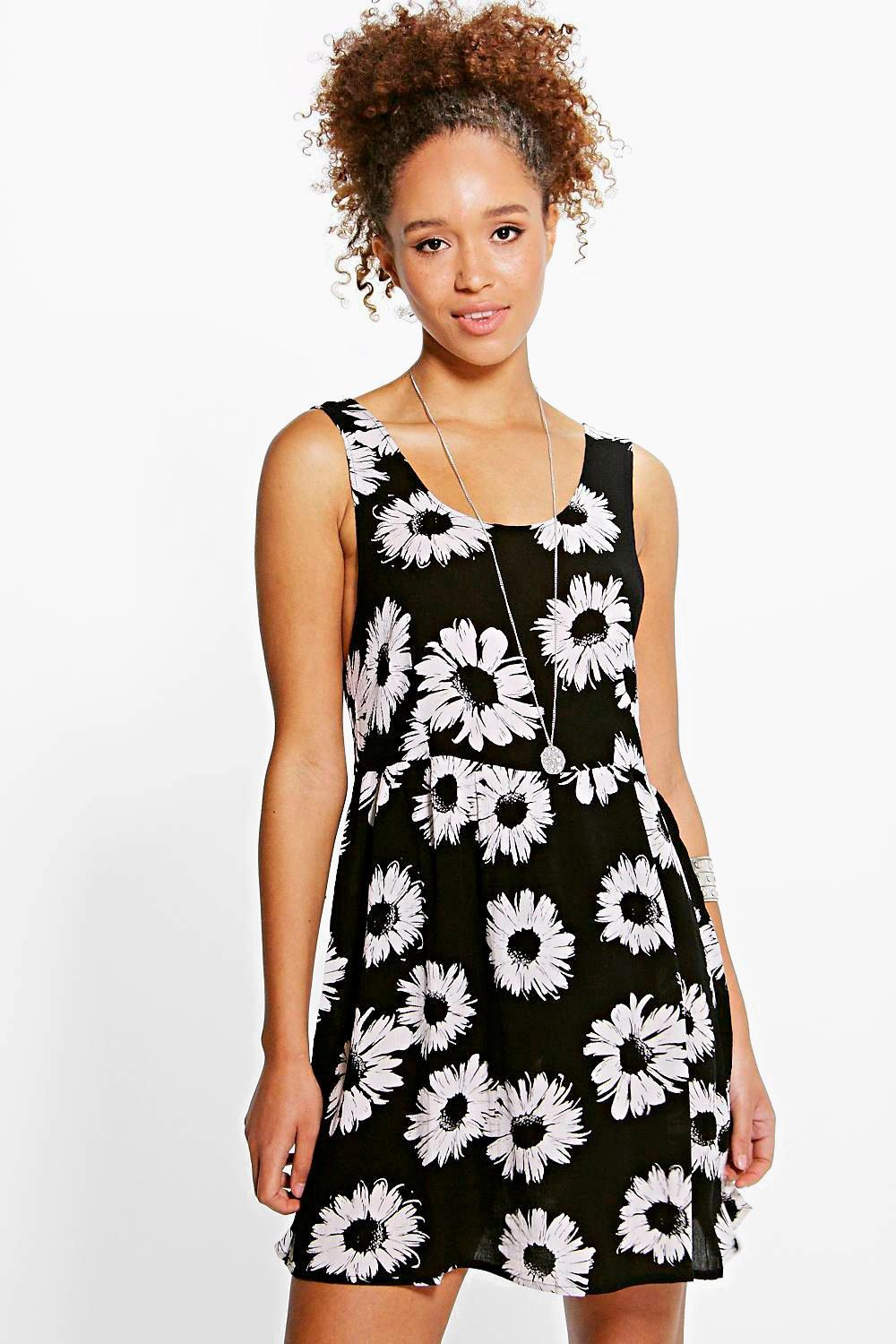 Violetta Large Daisy Open Back Sundress