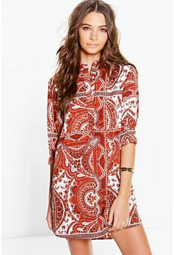 Elisabetha Paisley Shirt Dress