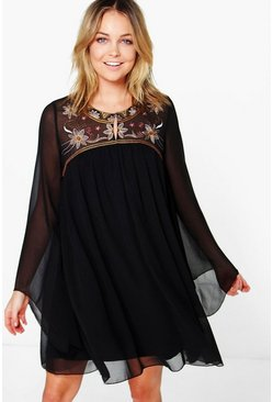 Boutique Ezra Embroidered Smock Dress