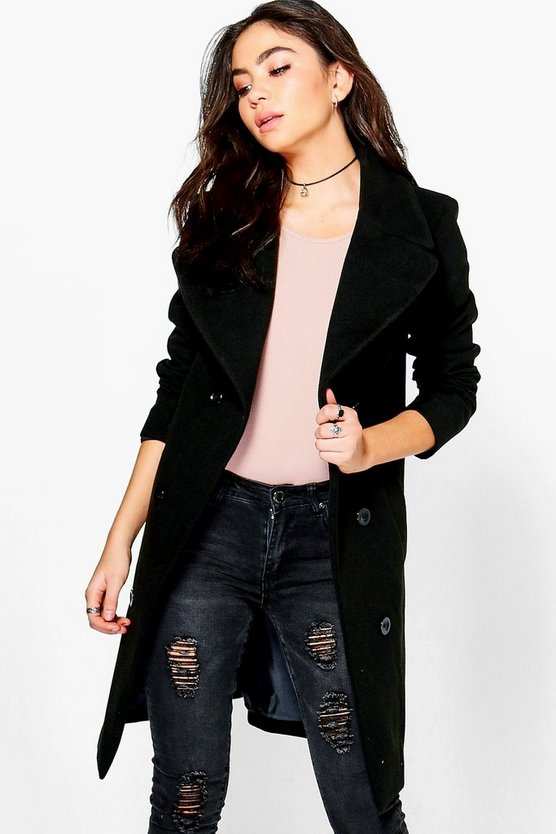 Oversized Collar Double Breasted Coat