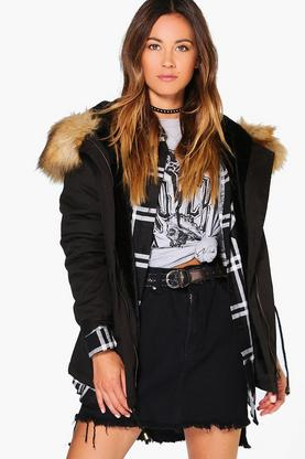 Boutique Alice Faux Fur Lined Hooded Parka