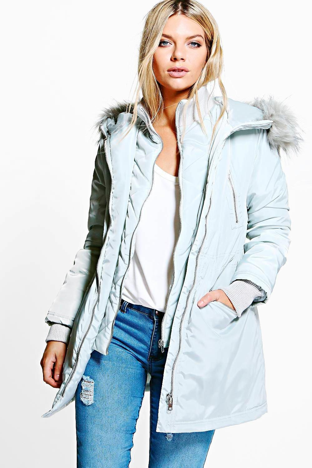 Boutique Imogen Luxe Double Layered Parka