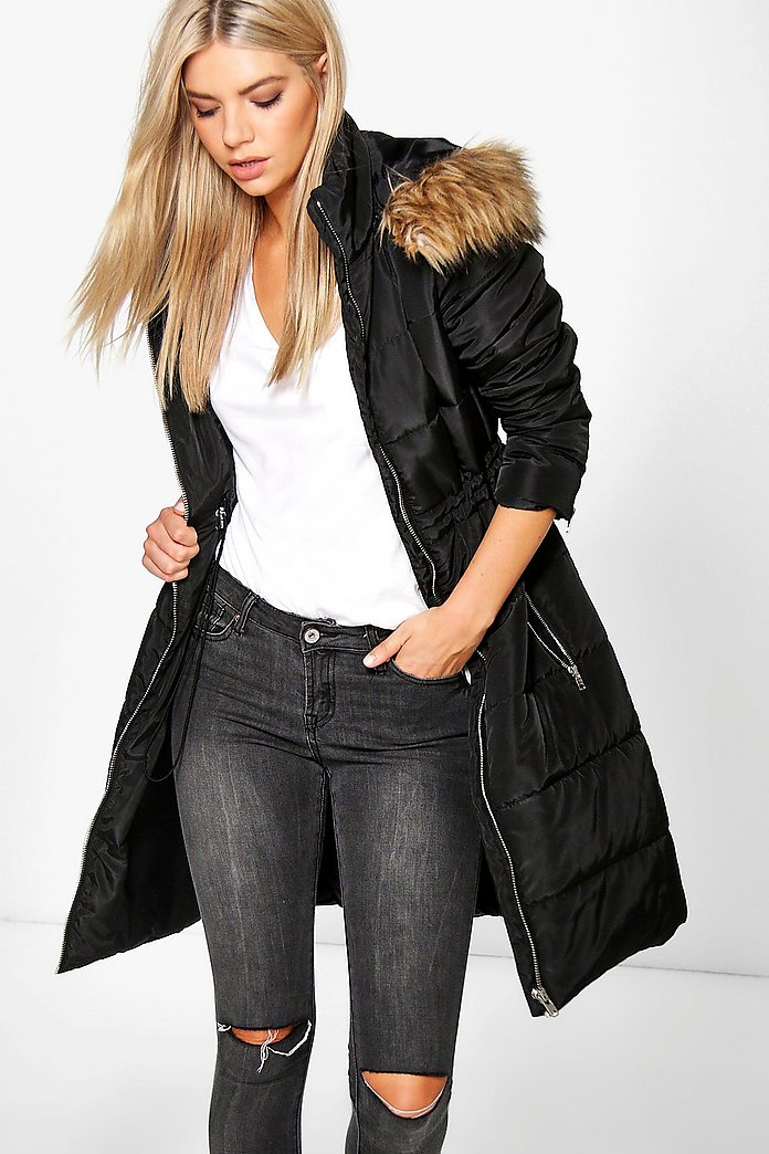 Lilly Longline Quilted Coat