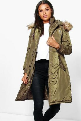 Boutique Sophia Longline Luxe Double Layered Parka