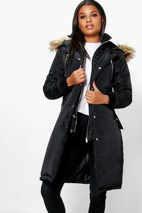 Boutique Ella Longline Luxe Double Layered Parka