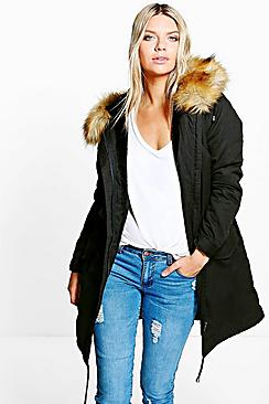 Mia Faux Fur Lined Parka