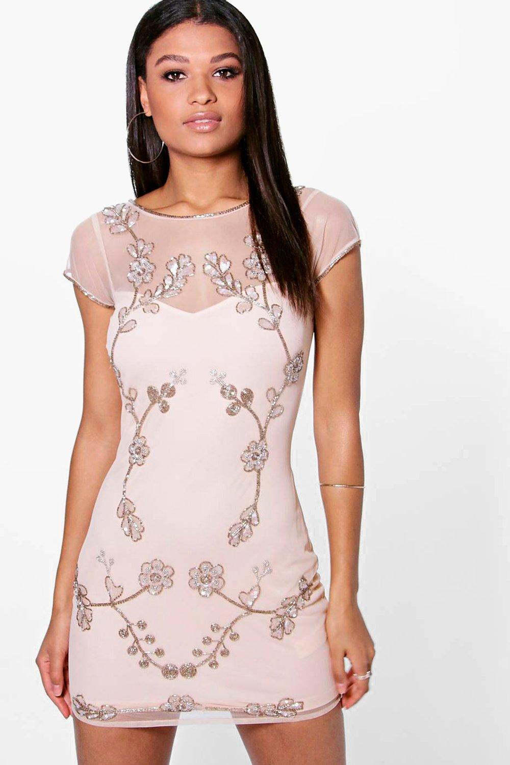 Arisa Embellished Bodycon Dress