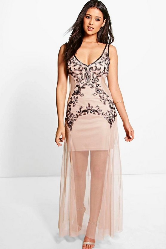 Boutique Ara Embellished Maxi Dress
