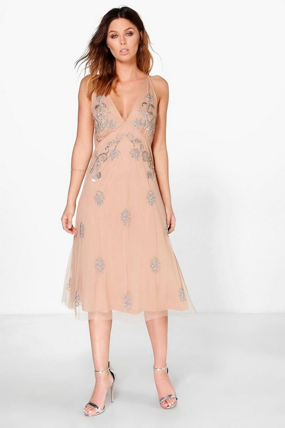 Boutique Misa Embellished Stappy Back Dress