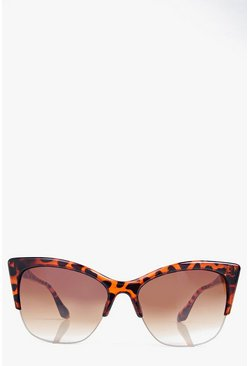 Lacey Half Frame Cat Eye Sunglasses