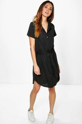 Azra Tie Waist Shift Dress