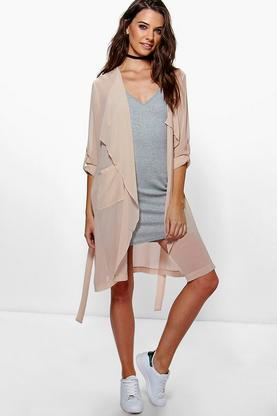 Maisy Waterfall Chiffon Duster
