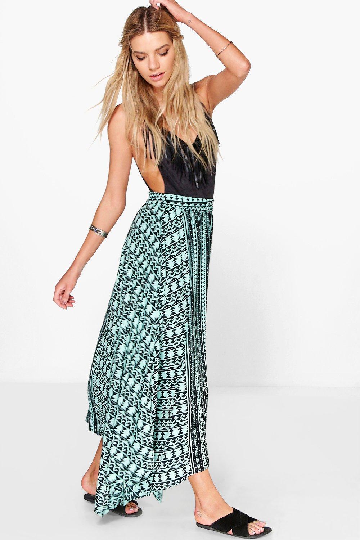 Hanky Hem Maxi Skirt multi