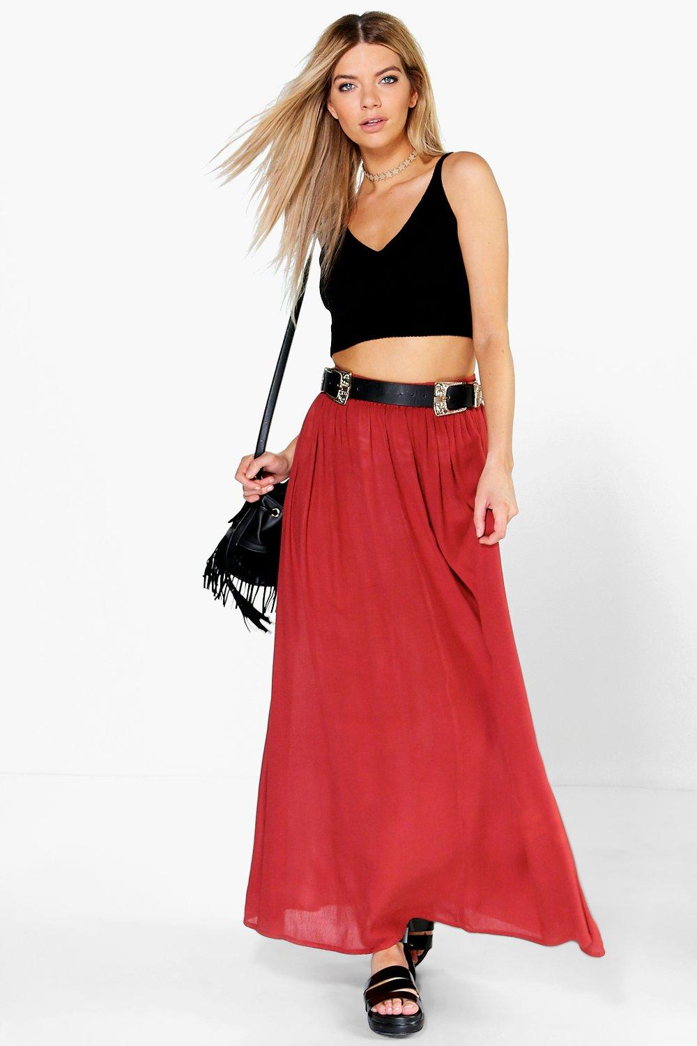 Vita Cheesecloth Maxi Skirt