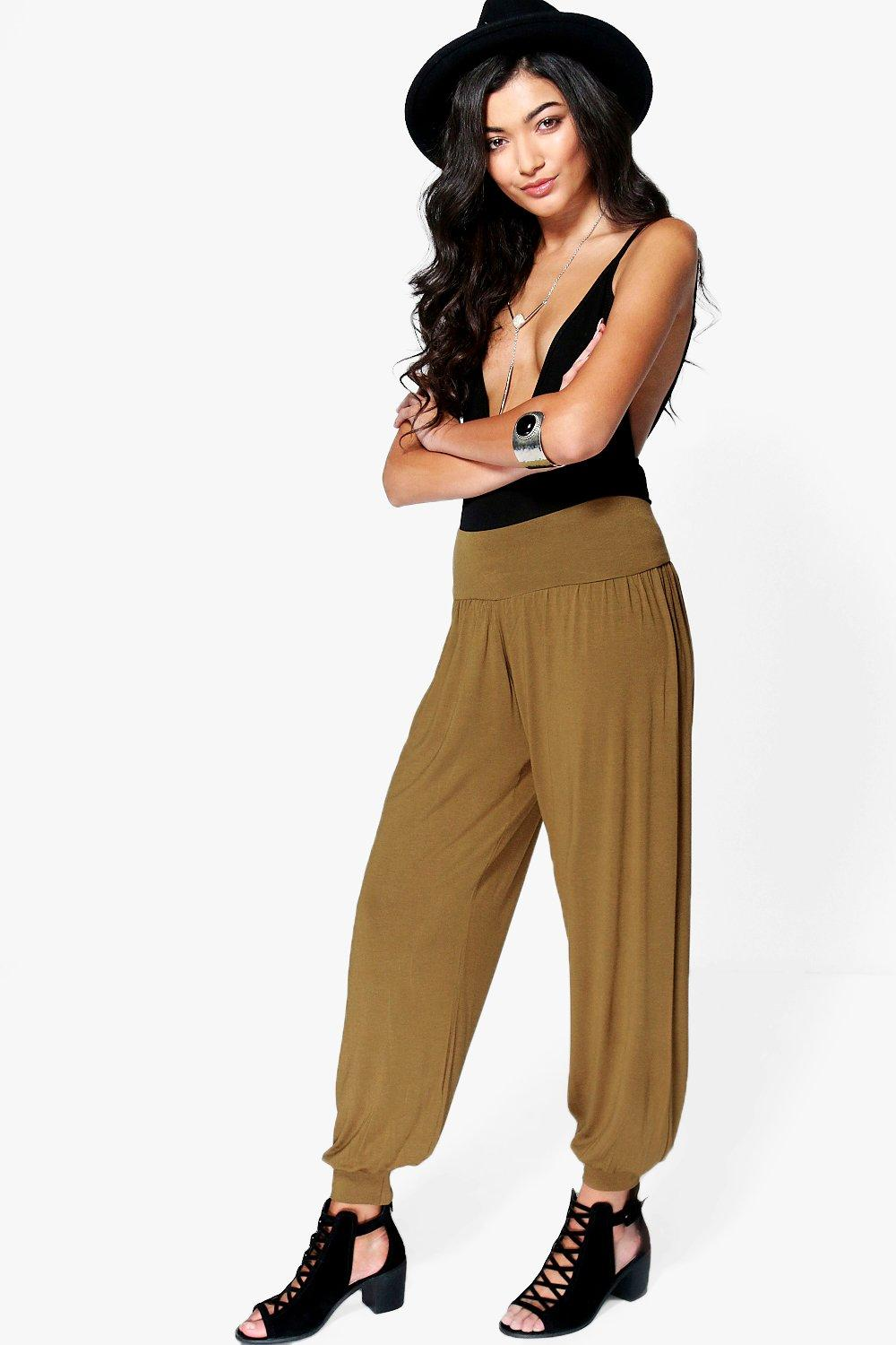 Lena Basic Jersey Hareem Trousers