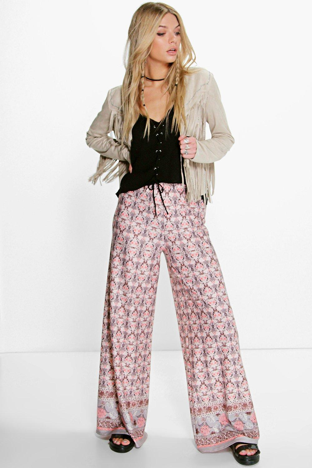 Faith Bohemian Wide Leg Trousers