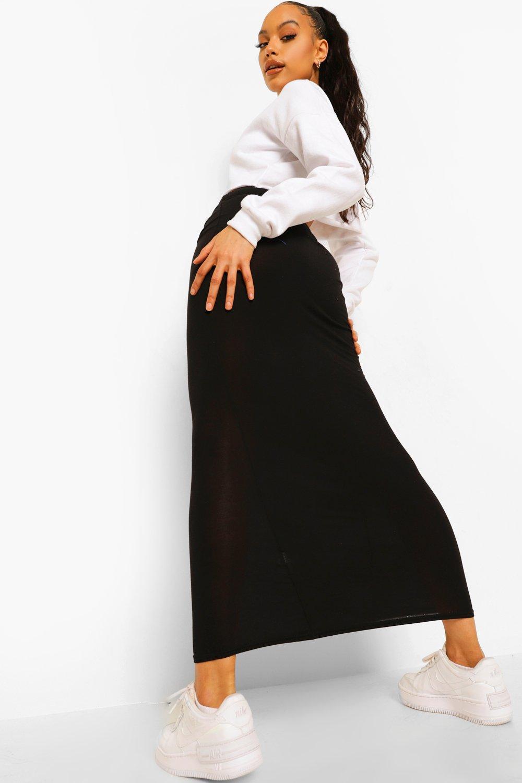 Helena Basic Jersey Maxi Skirt at boohoo.com