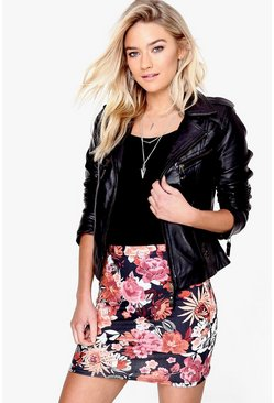 Avalen Bohemian Floral Mini Skirt