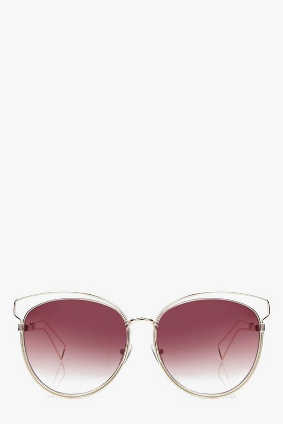 Laura Metal Frame Cat Eye Sunglasses