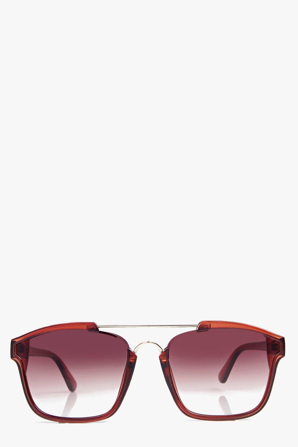 Lucy Metal Bar Rectangle Sunglasses