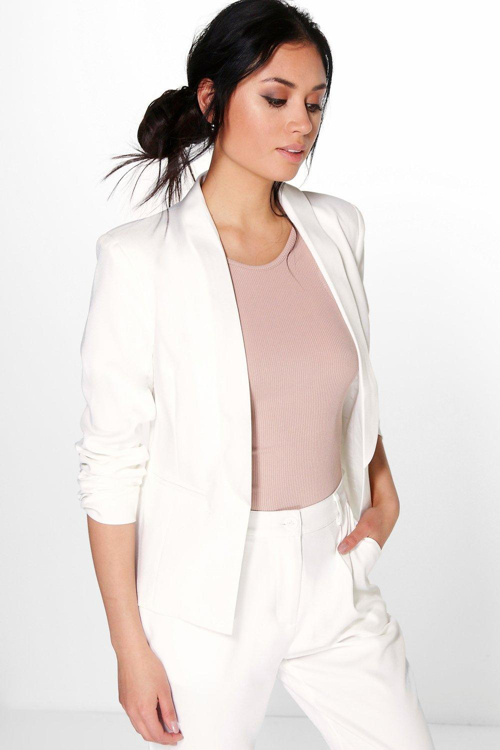 Boutique Lottie Woven Suit Blazer With Collar