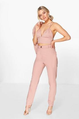 Boutique Sofia Woven Cigarette Trouser