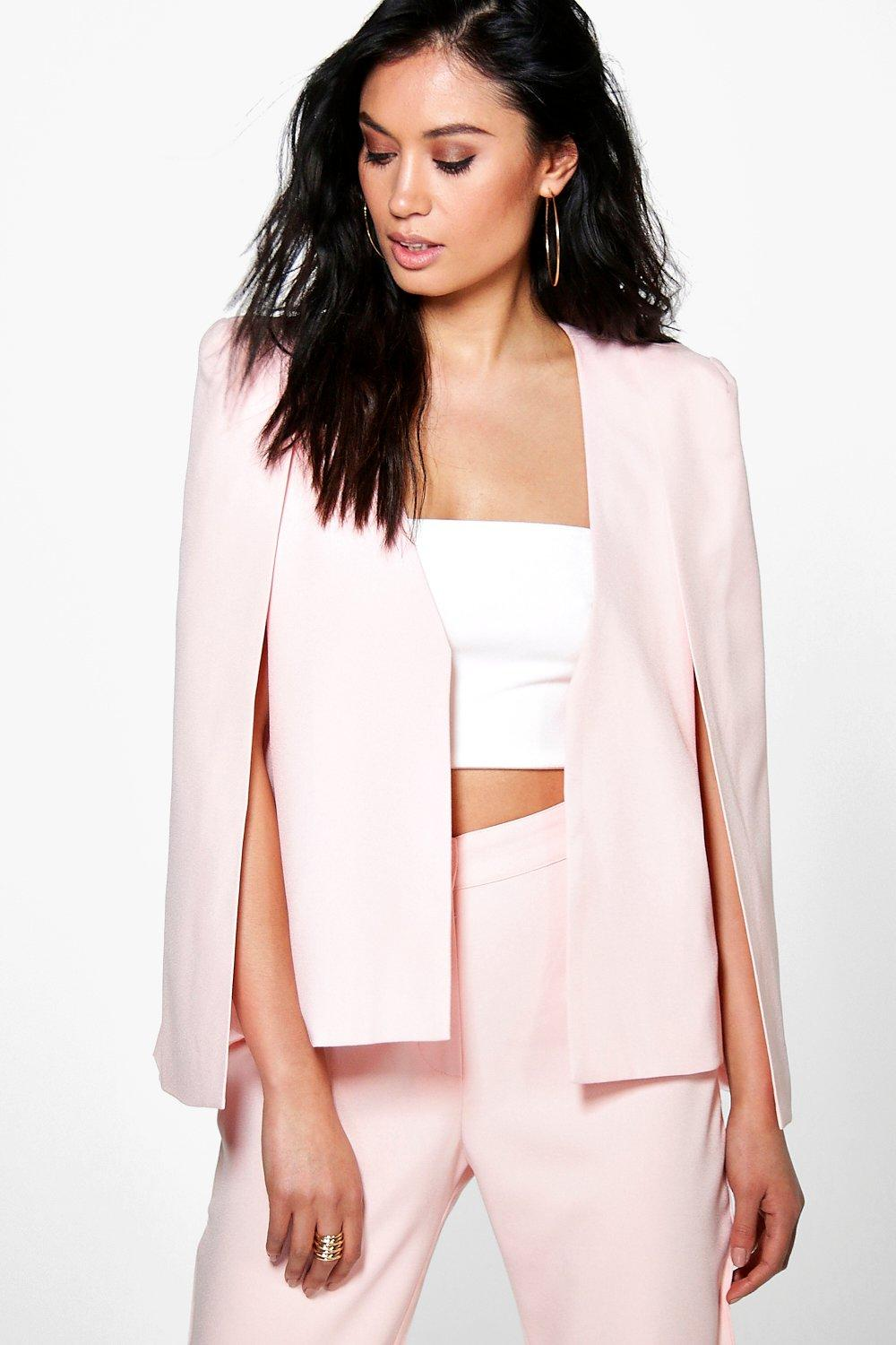 Boutique Anna Tailored Woven Cape Blazer