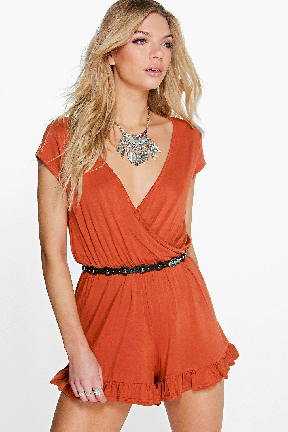 Faye Hem Wrap Front Playsuit