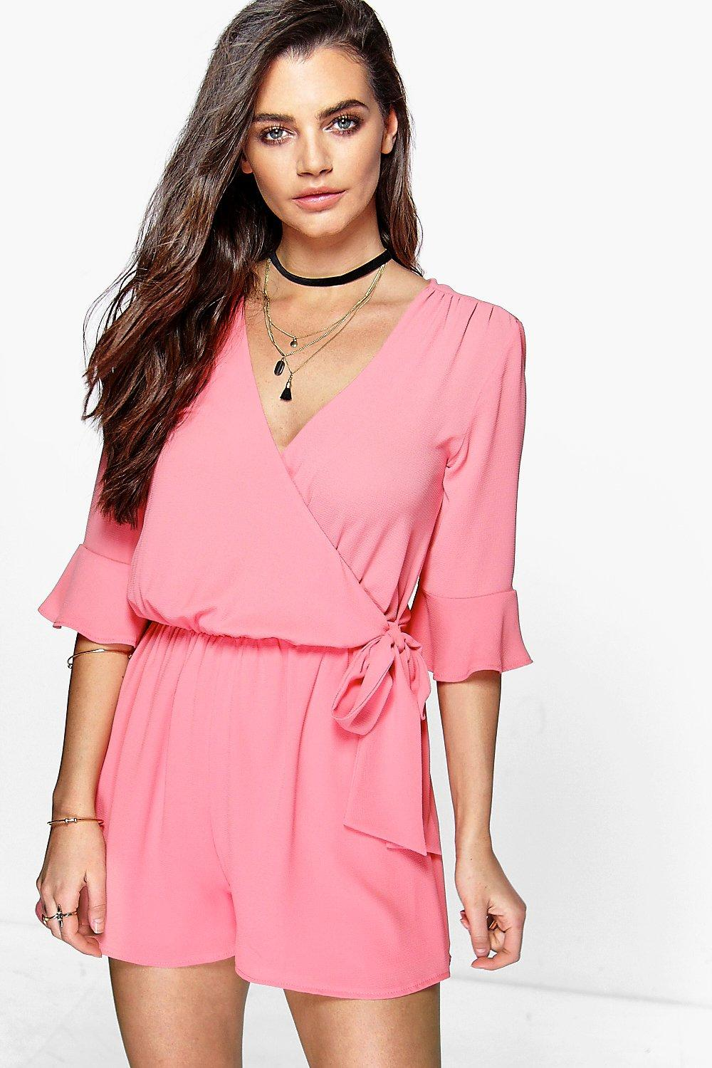 Emma Frill Sleeve Wrap Front Playsuit