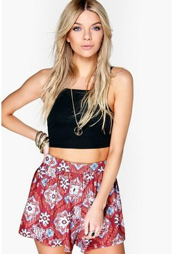 Bella Aztec Print Flippy Shorts
