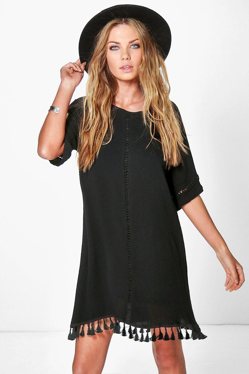 Cassie Festival Tassel Shift Dress