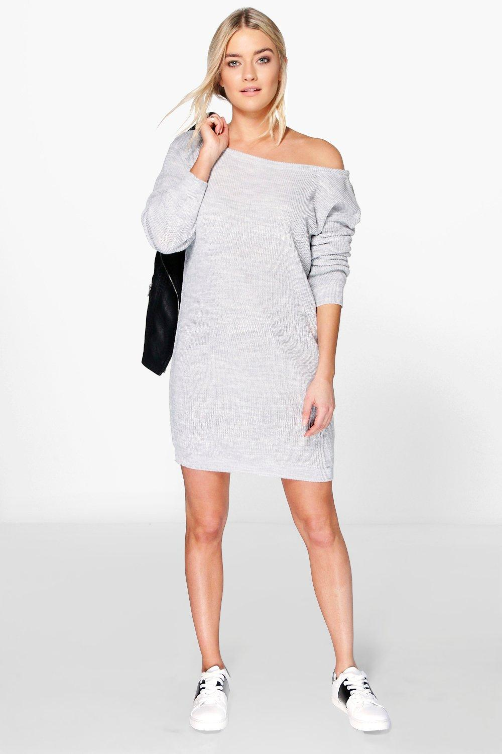 Aimee Slash Neck Jumper Dress