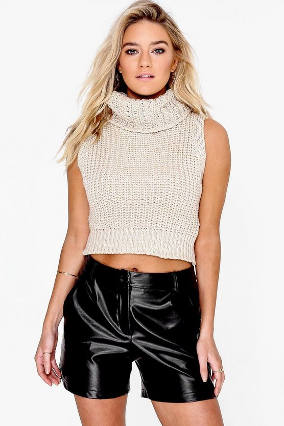 Millie Chunky Roll Neck Sleeveless Knit