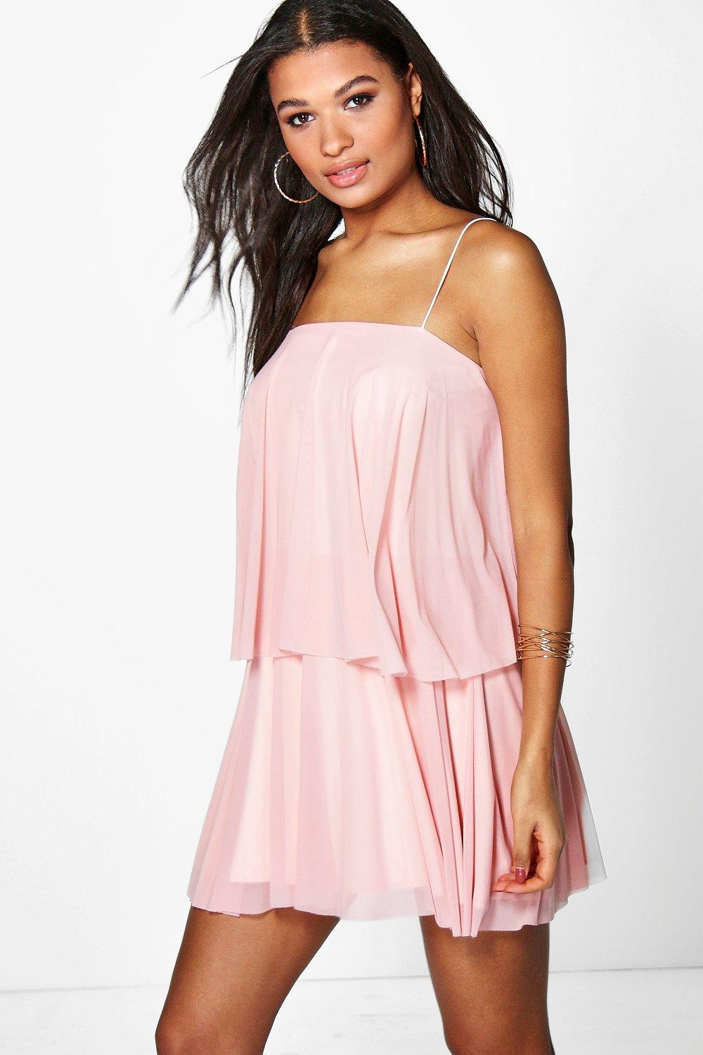 Juanita Double Layer Mesh Strappy Dress