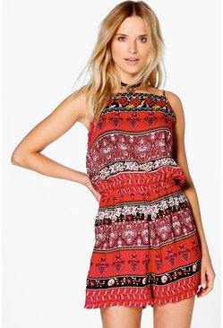 Lilly Embroidered Playsuit