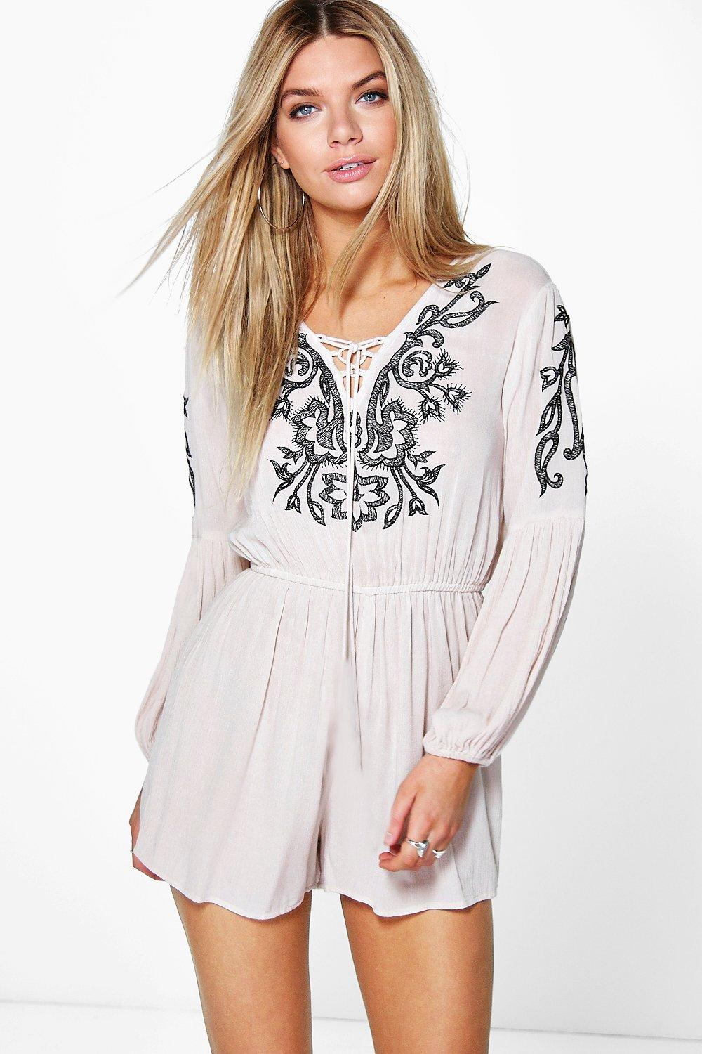 Ria Embroidered Playsuit