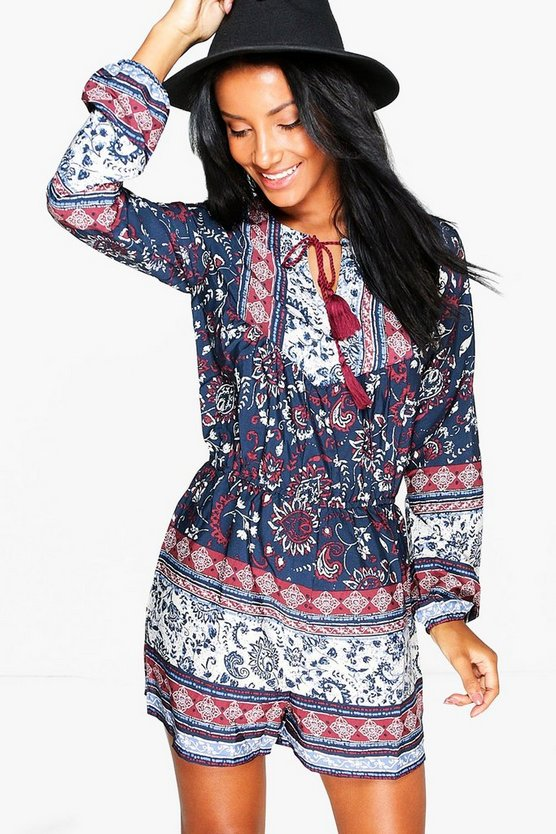 Lisa Printed Playsuit