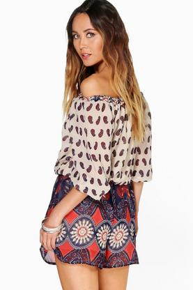 Boutique Mia Off The Shoulder Embellished Playsuit