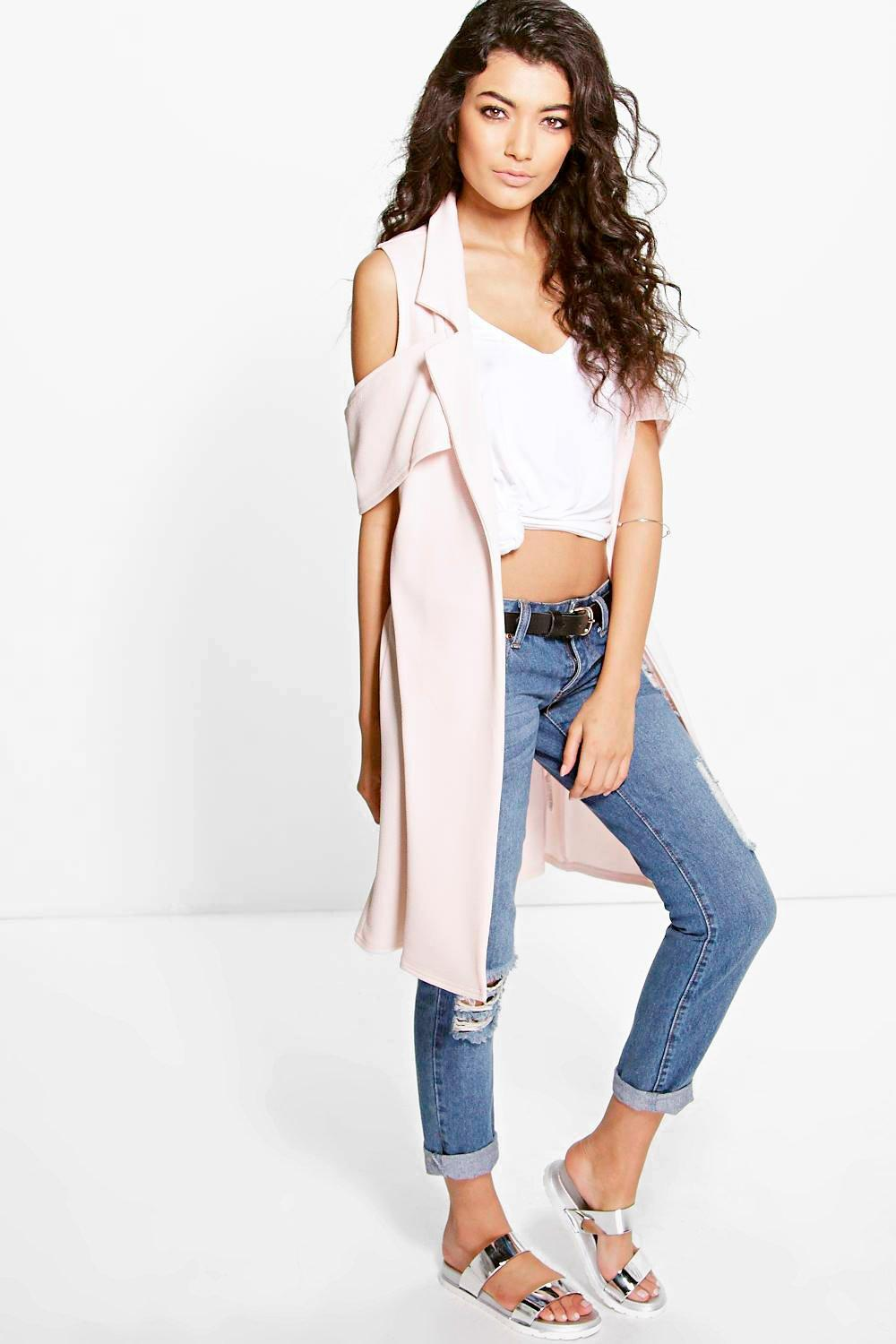 Lillie Sleeveless Duster With Sleeve Detail