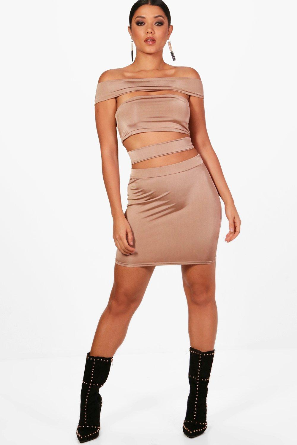 Enya Off The Shoulder Strappy Co-Ord Set