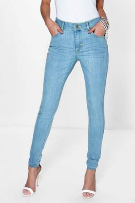 Michelle Mid Rise 5 Pocket Skinny Jeans