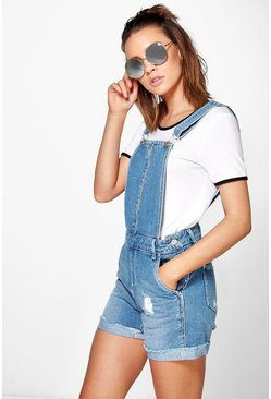 Ava Festival Dungaree Denim Hotpants