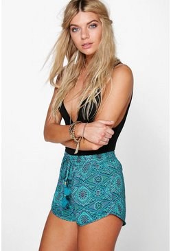 Laura Spiral Print Runner Shorts