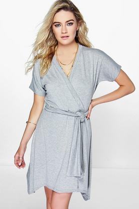 Alisa Short Sleeve Wrap Dress