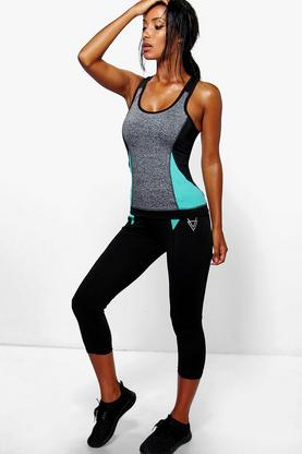 Mia Performance Capri Running Leggings