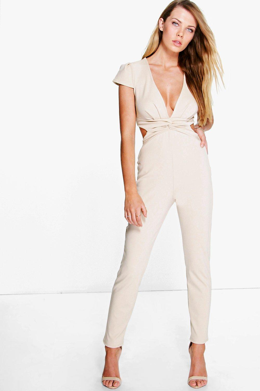 Kelly Twist Front Cut Out Back Jumpsuit