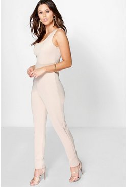 Allie Asymmetric Skinny Leg Jumpsuit