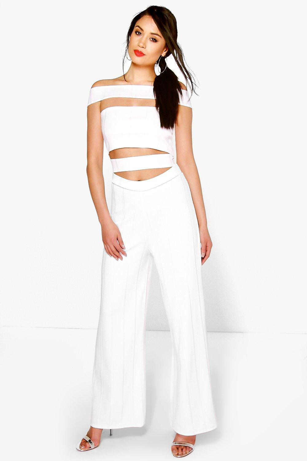 Fiona Cut Out Strappy Bardot Jumpsuit