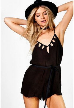 Molly Cut Out Detail Strappy Playsuit